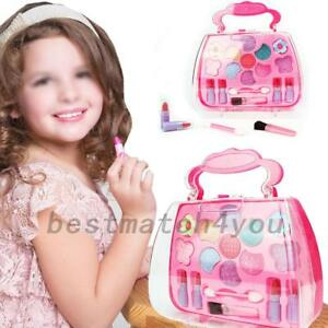 Girl Toy Vanity Eco-friendly Beauty Cosmetic Carry Case Pretend Makeup Role Play