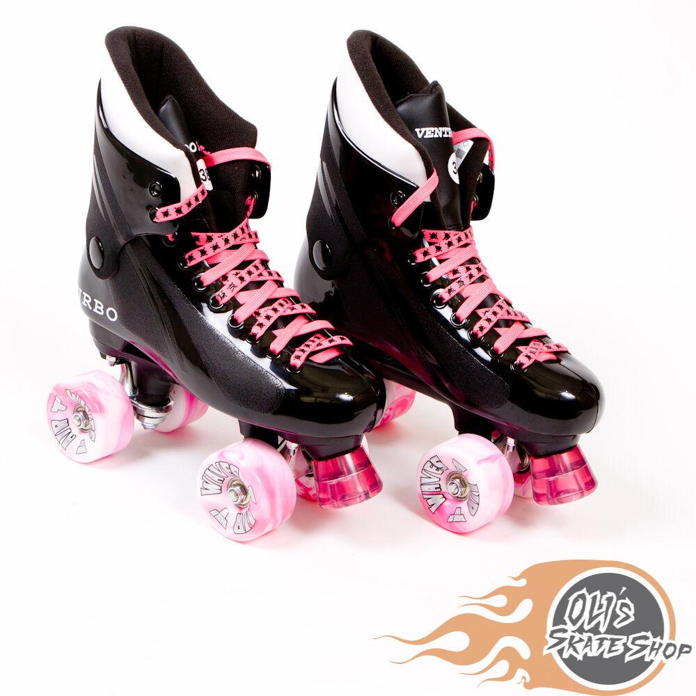 Ventro Pro Turbo Quad Roller Skate, Bauer Style - Rosa