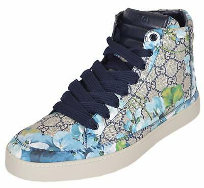 NEW Gucci Men's 407342 GG BLOOMS Blue