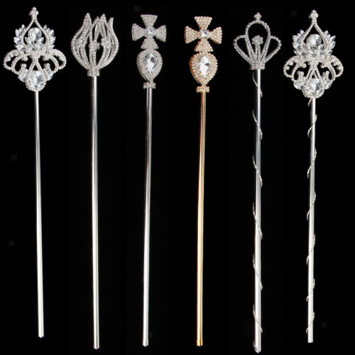 Fairy Princess Queen Cross Tulip Crystal Floral Wand Magic Scepter Fancy Dress