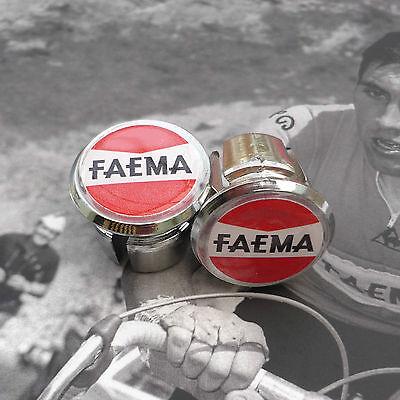 Vintage Style /'Eddy Merckx/' Chrome Racing Bar Plugs Caps Repro
