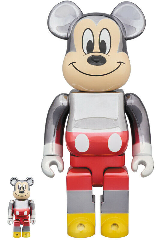 Neuf Be@Rbrick 100% & 400% Fragmentdesign Mickey Mouse Farbe Ver. de Japon