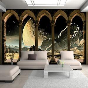 vlies fototapete tapeten tapete kosmos weltraum fenster. Black Bedroom Furniture Sets. Home Design Ideas