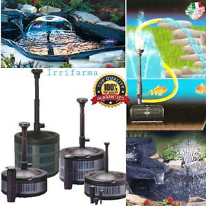 Pompa Con Filtro Per Laghetto Pesci Stagno Fontana E Cascate Giochi D'acqua Eco Various Styles Yard, Garden & Outdoor Living Pumps (water)