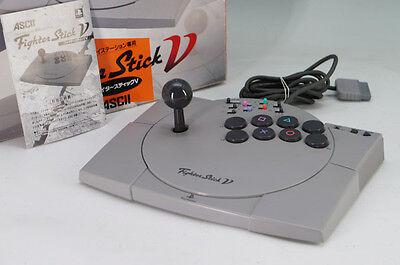 PlayStation Fighter Stick VASC-0501J ASCII w/box w/instruction 225k15