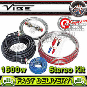 vibe 12v flat 8 awg gauge 1500 watts stereo system car amp amplifier rh ebay com Car Audio Wiring Kits vibe 8 gauge wiring kit