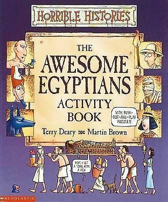 1 of 1 - Awesome Egyptians Activity Book (Horrible Histories), New, Deary, Terry Book