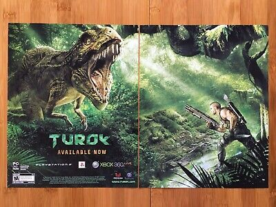 Turok Xbox 360 PS3 PC 2008 Vintage Video Game Poster Ad ...