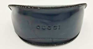 Gucci Glasses Case Black leather used good condition some marks