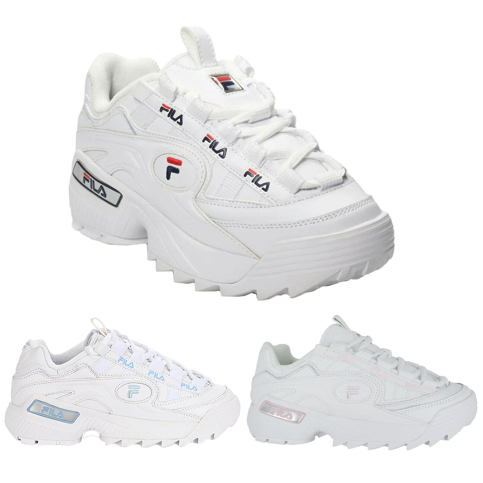Fila D-Formation Synthetic Leather New Lace-Up Athletic Damen Trainer