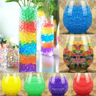 Colorful Water Plant Flower Jelly Crystal Soil Mud Hydro Gel Pearl Balls Beads