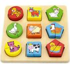 Childrens 1st Shape Block Puzzle Farm Animals Baby Toddler Educational Toy