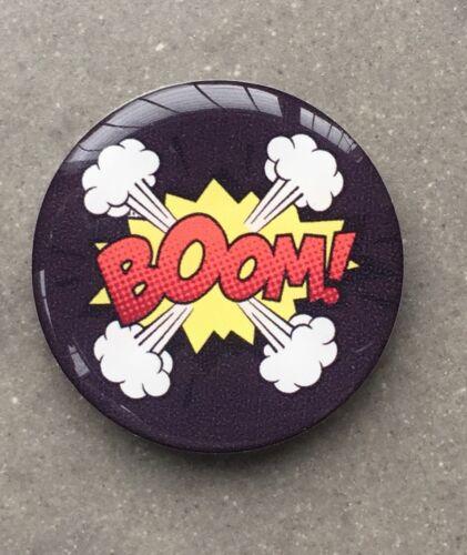 27mm BOOM POP ART GEL RESIN DOMED CUSTOM WHEEL CAP  STICKERS BADGE GEAR KNOB