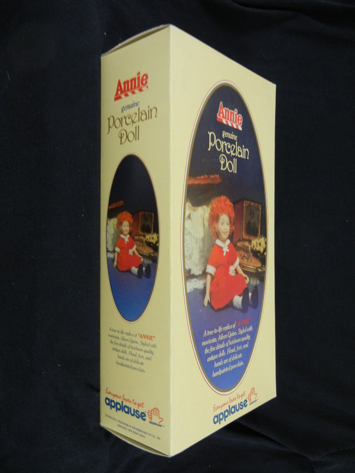 LITTLE ORPHAN ANNIE Porcelain Doll, Mint in Box : 1982 ANNIE Movie Promotion