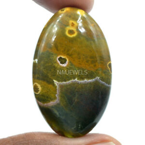 Cts-50-00-Natural-Orbicular-Ocean-Jasper-Cabochon-Oval-Cab-Gemstone