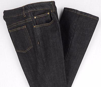 Ann Klein AK Jeans Size 6P Black Denim Cotton Blend Stretch Boot Cut Womens 31