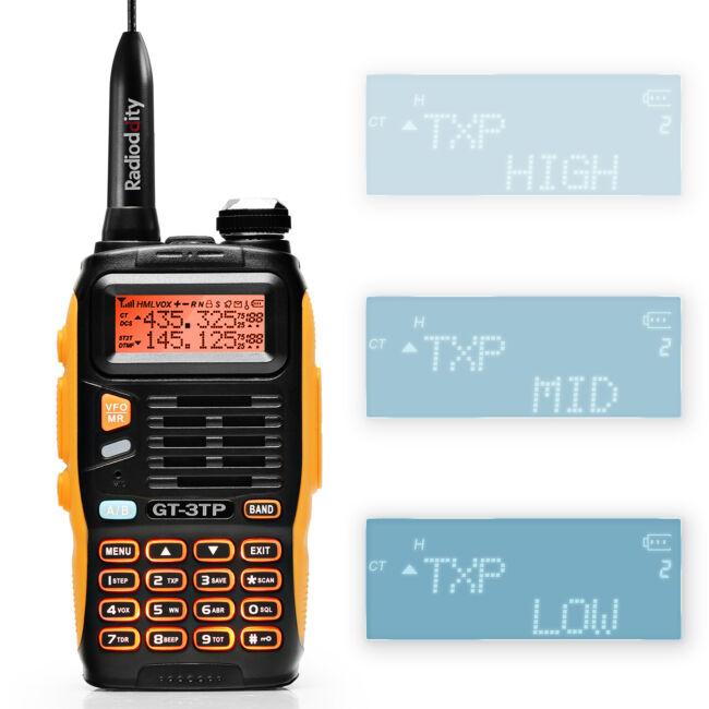 BAOFENG GT-3TP MARK III HP VHF UHF TRI-POWER 8W WALKIE TALKIE HAM RADIO BIDIRECCIONAL