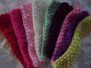 Baby-Girls-Crochet-Super-Soft-Headbands-Hairbands-Stretchy