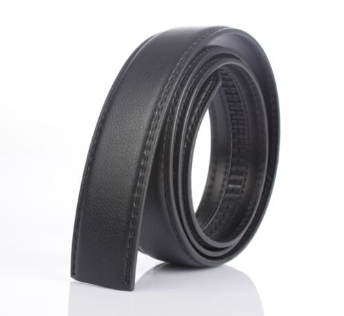 New Black Brown Leather Mens No-Automatic Buckle Style Dress Strap Waist Belts