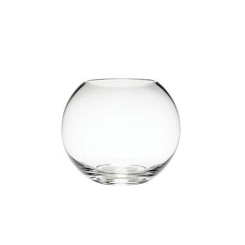 15cm Round Clear Glass Flower Vase Fishbowl Decorative Wedding Home