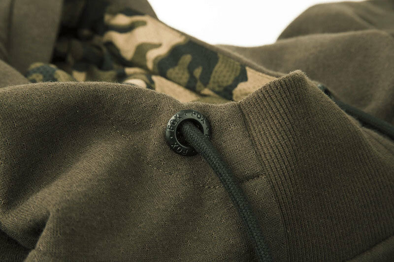 FOX CHUNK NEW NEW NEW Dark Khaki / Camo Hoodie / Hoody - Carp Fishing - All Größes 9e5a9a