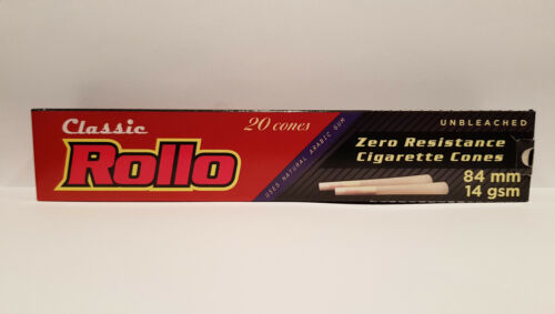 100 Rollo Clasic Cigarrette Cones Organic King Size Pre Rolled Paper Raw Natural