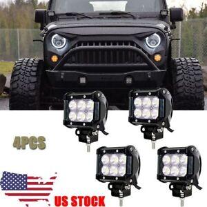 4X-4Inch-Cube-Pod-Flood-LED-Driving-Fog-Lights-Off-Road-Work-Light-Jeep-Wrangler