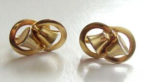 ef6577549 Image is loading Vintage-Alice-Caviness-Gold-Tone-Bells-Earrings