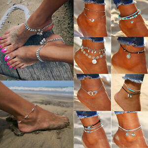 Boho Braided Barefoot Sandal Beach Conch Anklet Foot Jewelry Ankle Bracelet Hot