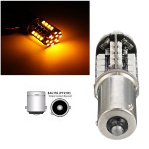 44-SMD-LED-CANBUS-581-BAU15S-1156-PY21W-BOMBILLAS-LUZ-INDICADOR-NO-ERROR-AMBAR