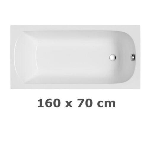 Rechteckwanne Badewanne Ablaufgarnitur Acryl Weiß Füße Siphon VIEGA CASSINO F