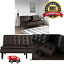 Memory-Foam-Sofa-Bed-Couch-Convertible-Futon-Leather-Cup-Holder-Pillow thumbnail 1