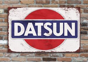 "DATSUN  10x8"" Retro Vintage Metal Advertising Sign Plaque Wall Art Pic"