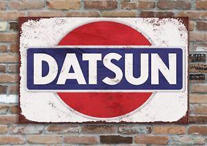 "DATSUN  10x8"" Retro Vintage Metal Advertising Sign Plaque Wall Art Pic"