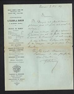 """MAMERS (72) IMPRIMERIE / JOURNAL de MAMERS """"G. FLEURY & A. DANGIN"""" en 1889 - France - État : Occasion : Objet ayant été utilisé. Consulter la description du vendeur pour avoir plus de détails sur les éventuelles imperfections. Commentaires du vendeur : """"CORRECT"""" - France"""