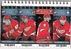 2013 14 detroit red wings season ticket stub pick your game dropbox