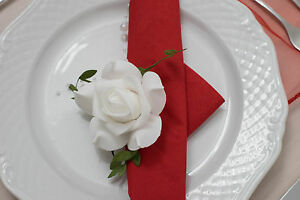 Rose-mit-Clip-ca-10-cm-Rose-Hochzeit-Taufe-Dekoration-Serviettenhalter