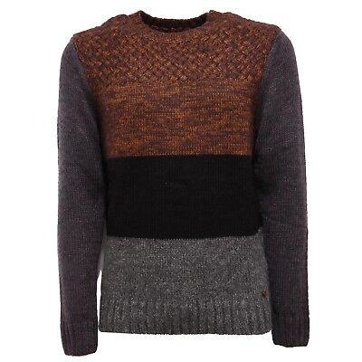 9428v Maglione Uomo Inmyhood Brown/grey/black Sweater Man Prestazioni Affidabili