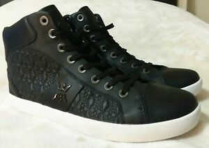 Mens Womens Basketball Shoes High Top Trainers Faux Leather Athletic Walking Gym