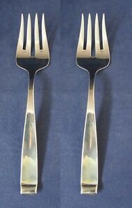 SET-OF-TWO-Oneida-Stainless-Flatware-FORTE-Serving-Forks-USA