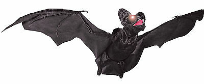 HALLOWEEN  ANIMATED FLYING BAT VAMPIRE SOUNDS HAUNTED HOUSE  PROP DECORATION