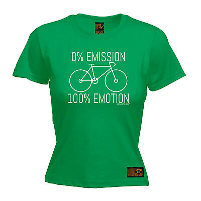 Cycling Tops T-shirt Funny Novelty Womens Tee Tshirt - 0 Emissions 100 Emotion Bequem Und Einfach Zu Tragen