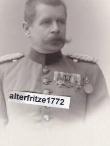 Kabinett-Foto-CDV-Offizier-mit-4-er-Ordens-Spange-Muenchen-Bayern