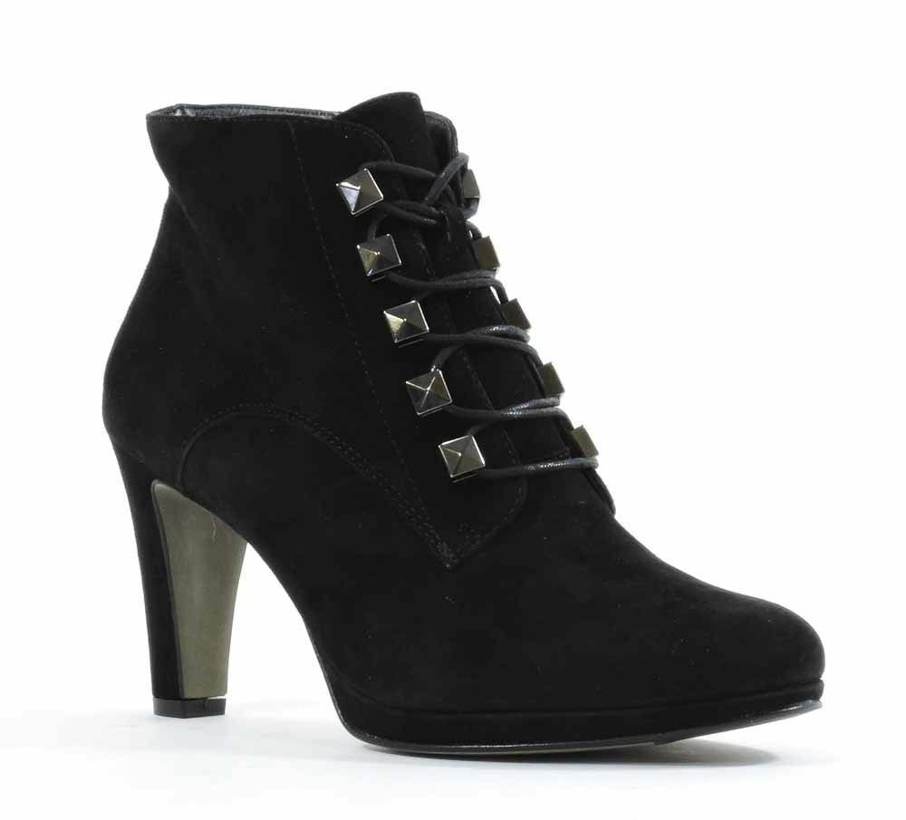 Paul Green Womens Eliza Boots Black Suede US 6 NEW IN BOX