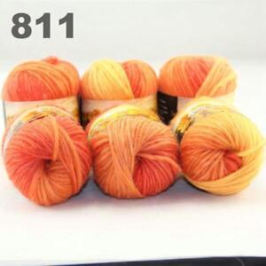 6Balls x 50g Chunky DIY Needle crafts Hand-Woven Knitting