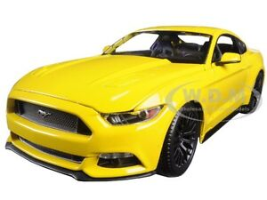 2015-FORD-MUSTANG-GT-5-0-YELLOW-1-18-DIECAST-CAR-MODEL-BY-MAISTO-31197