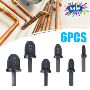 6pcs Set Air Conditioner Copper Tube Expander Swaging Tool Drill Bit Flaring