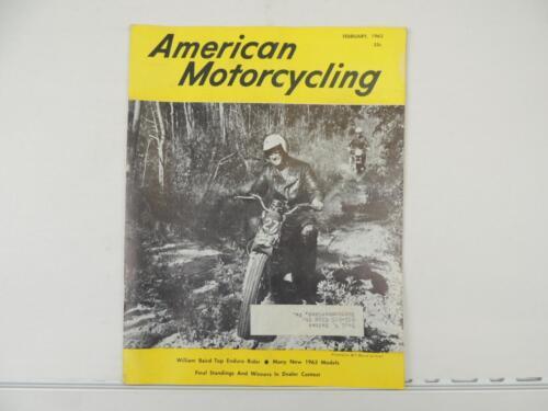 Vintage Feb 1963 AMERICAN MOTORCYCLING Magazine Norton BSA Triumph Trophy L3851