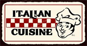 Italian Cuisine Vintage Metal Art Italian Pizzeria Retro Tin Sign VMA-L-6506