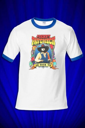 Johnny Paycheck 1978 Tour RINGER T-SHIRT FREE SHIP USA Outlaw Country